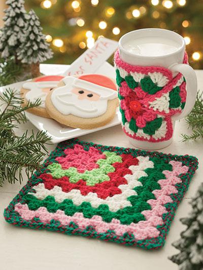 Crochet a mug Cozy using Granny Squares