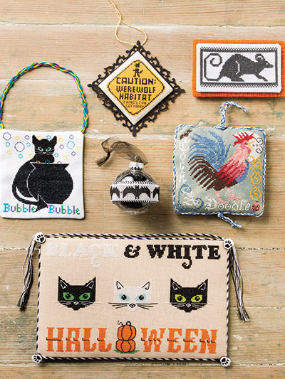 Black Cats and more to cross stitch for Halloween