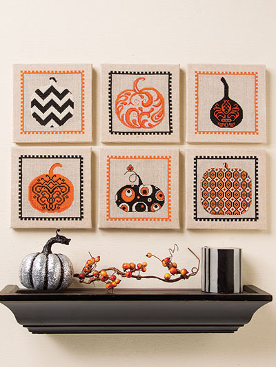 Pumpkins and more to Cross stitch for Halloween