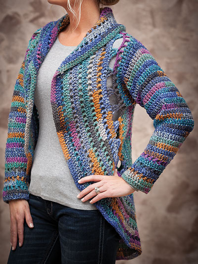 69fb87a517aa44 ANNIE S SIGNATURE DESIGNS  Harbor Lights Circle Jacket Crochet Pattern