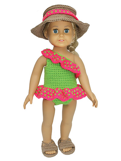 "Caribbean Cruise Attire for 18"" Dolls Crochet Pattern"