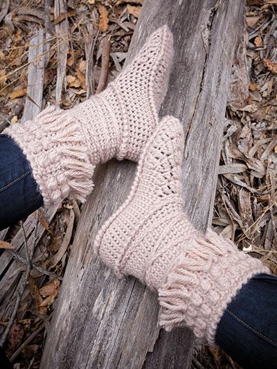 Crochet Patterns Annies Signature Designs Mukluk Crochet Booties