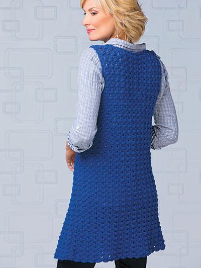 d170d194caefc Crochet Cardigan   Vest Patterns - Indigo Sleeveless Jacket Crochet ...