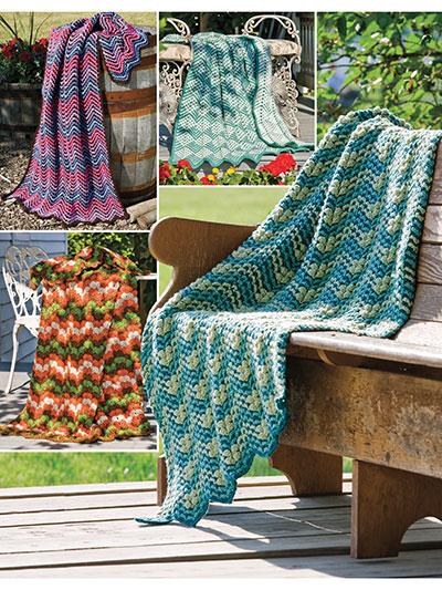 Crochet a Ripple afghan pattern
