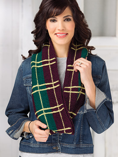 Colorful fall autumn scarf wrap knitting pattern