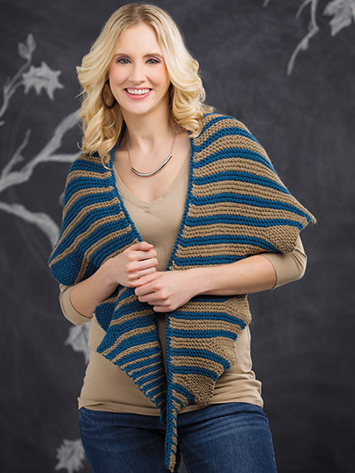 Pretty wrap knitting pattern for autumn in your favorite yarn colors