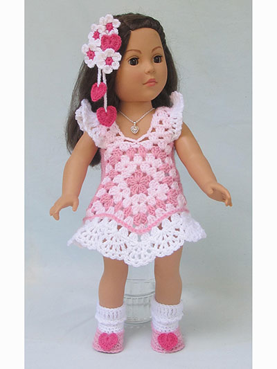 "Granny's Holiday Toppers Crochet Pattern - 18"" Doll Patterns (like American Girl Dolls)"