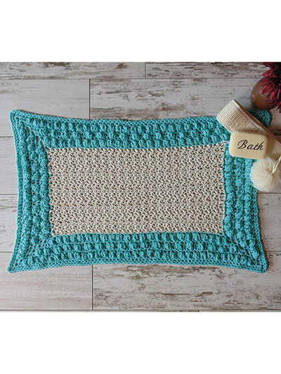 Easy to crochet bathroom rug pattern