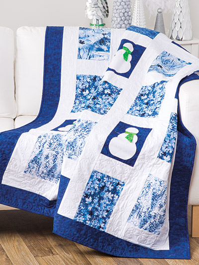 Snowflake and Snowman quilt patterns to make