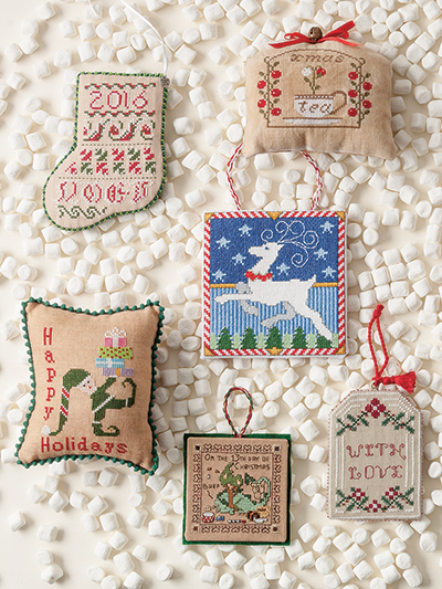 just crossstitch christmas ornaments 2016 loading technique needlework - Cross Stitch Christmas Decorations