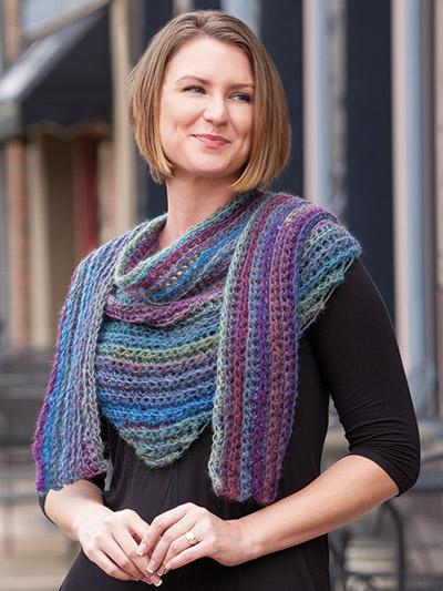 Crochet a Shawl or a Scarf pattern in weekend easy crochet patterns