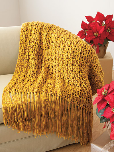 Crochet an easy and elegant afghan pattern
