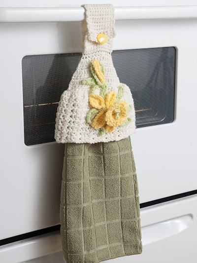 Floral Crochet Towel topper holder pattern