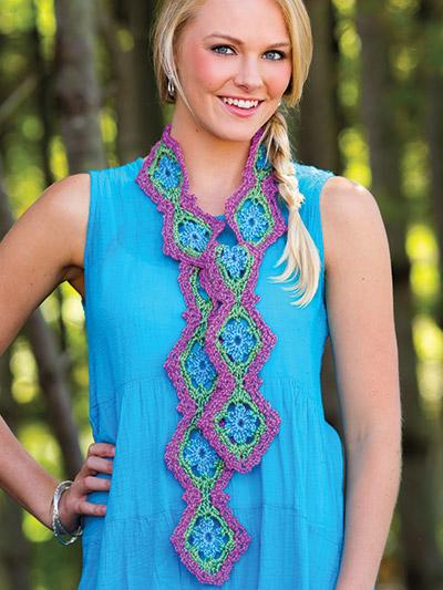 Crochet fashion scarf pattern easy crochet weekend patterns
