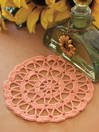 Simple and elegant crochet doily pattern