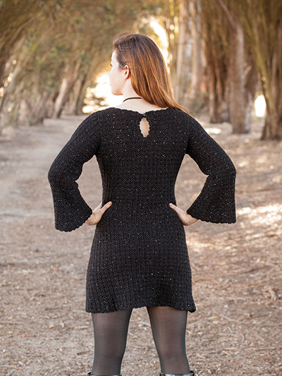 Crochet Black dress pattern