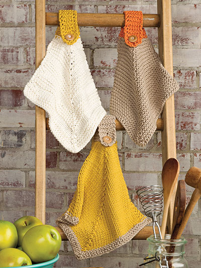 Knitting patterns for dishcloths and towels