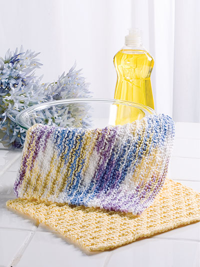 Knitting patterns for bright and bold dishcloths