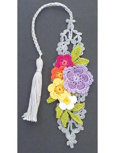 Irish Flower Bookmarks Crochet Pattern