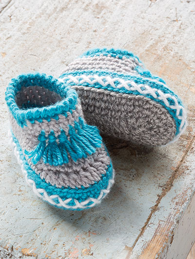 Crochet Patterns Annies Signature Designs Baby Moccasins Crochet