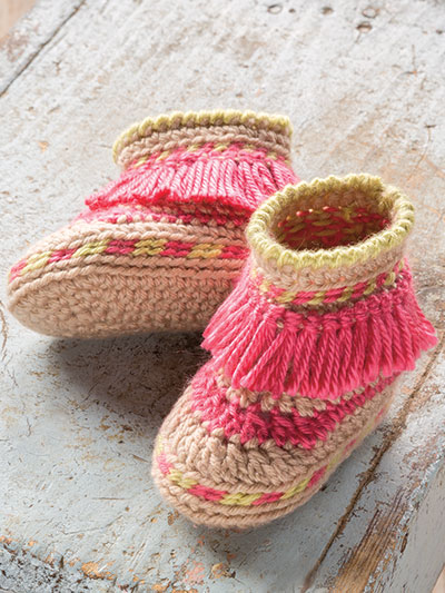 Crochet Patterns - ANNIE\'S SIGNATURE DESIGNS: Baby Moccasins Crochet ...