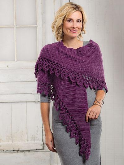 Crochet a shawl for winter, crochet winter shawl pattern, warm winter crochet patterns