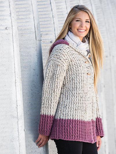 Crochet a hooded cardigan sweater pattern, winter sweater crochet patterns, crochet hooded cardigan pattern