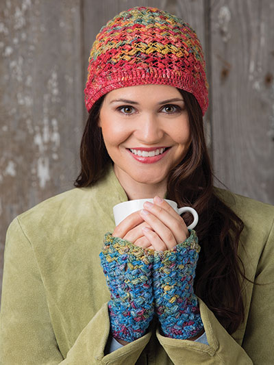 Crochet hat and gloves patterns, crochet hat pattern, crochet fingerless gloves pattern, crochet accessories for women, crochet winter patterns