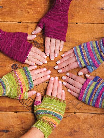 Knitting patterns for winter - knit fingerless gloves pattern, knitting gloves