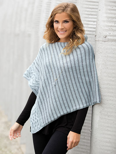 Knitting patterns for ponchos and knitting patterns for winter - winter ponchos to knit