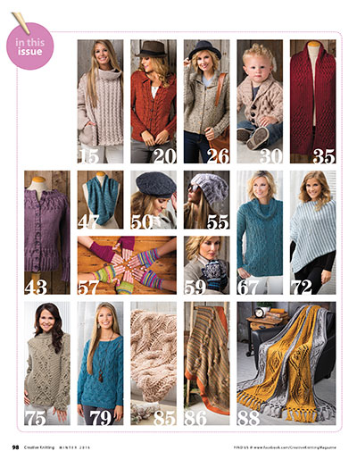 Knitting patterns for winter sweaters, baby items, afghans and more
