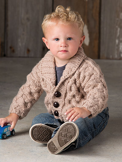 Knitting pattern for an adorable baby sweater - knitting patterns for baby