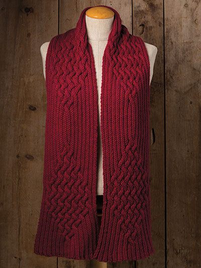Beautiful winter scarf knitting pattern - knitting patterns for winter