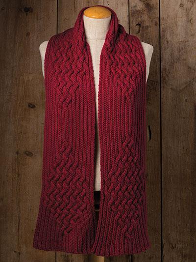 Beautiful winter scarf knitting pattern - knitting patterns for winter