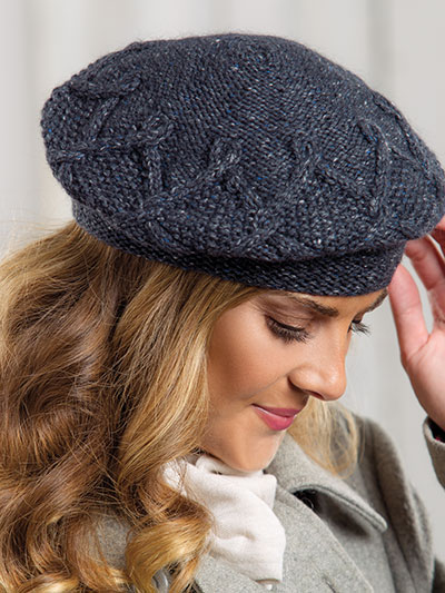 Knitting patterns for winter - Knitting a winter hat pattern, knit a beret