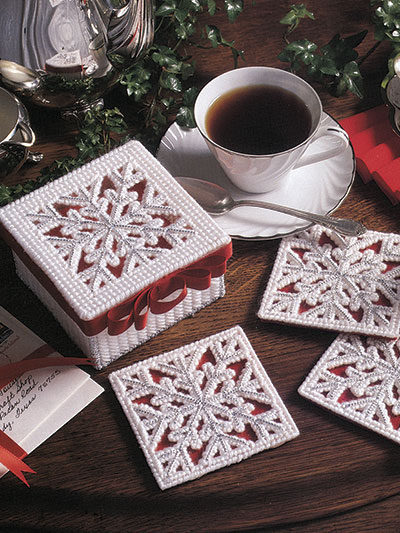 Snowflake Coasters Plastic Canvas Pattern