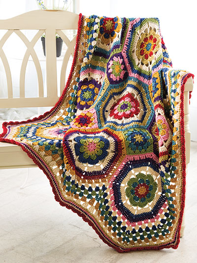 Crochet pattern for Octie Throw