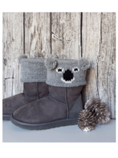 New Knitting Patterns Bear Boot Toppers Knit Pattern