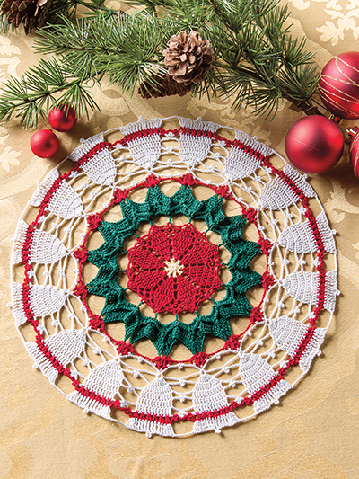 Crochet Christmas doily pattern