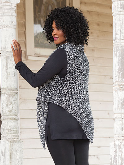 Crochet this 3 in 1 crochet shawl scarf combination pattern
