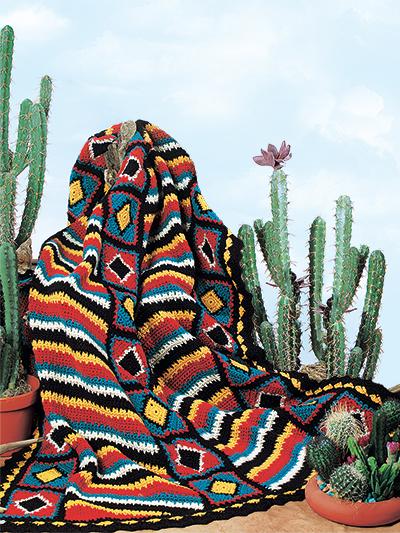 Navajo Afghan Crochet Pattern Download Indian Afghan Navajo