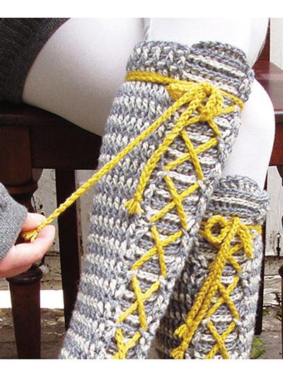 New Crochet Patterns Laced Knee High Socks Crochet Pattern