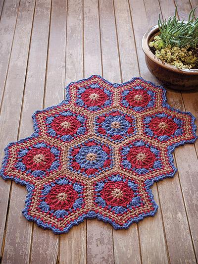 Crochet Rug Patterns - Southwest Rugs Crochet Pattern
