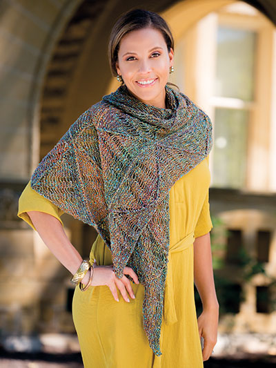Knitting pattern lacy scarf shawl pattern