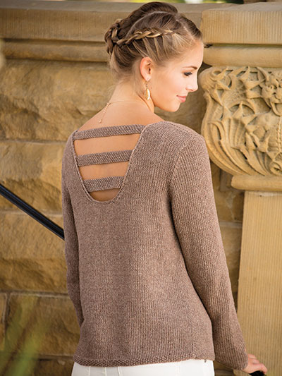 Knitting pattern it's all about the back in this sweater knitting pattern