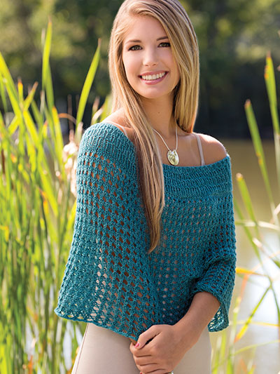Knitting pattern for a lacy spring cover up knitting sweater