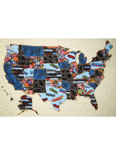 Map of the USA Patchwork Quilt Pattern