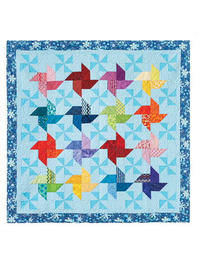 Traditional Lap Quilt & Throw Patterns - Double Pinwheel Quilt Pattern : double pinwheel quilt pattern - Adamdwight.com