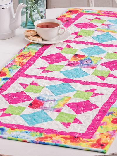 Quilt a table runner pattern for summer