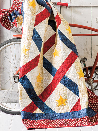 Patriotic Quilt pattern for summer